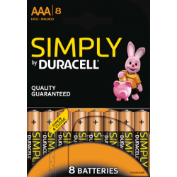 8x Duracell Simply...