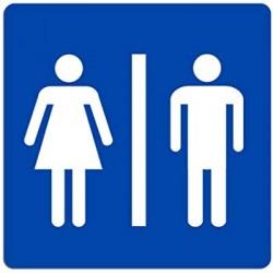Cartello donna/uomo bagno,...